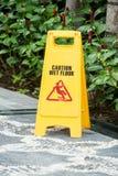 Vått golvtecken för varning Arkivbild