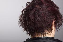 vått hår Arkivbild