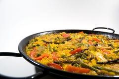 végétarien d'Espagnol de riz de Paella Photo stock