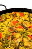 végétarien d'Espagnol de riz de Paella Photo libre de droits