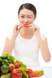 Végétarien d'internaute novice Photos libres de droits