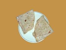 végétarien de l'Inde de nourriture de chapati Photos libres de droits