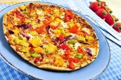 végétarien de pizza images stock