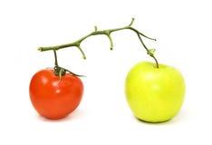 Végétarien et fruit Photos stock