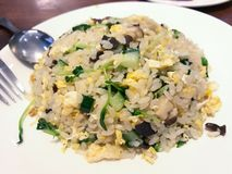 Végétarien Fried Rice Black Fungus Egg photographie stock