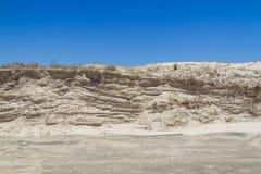 Végétation au-dessus des dunes au parc d'Itapeva en plage de Torres photographie stock libre de droits