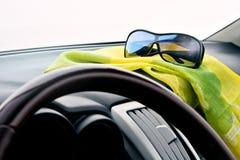 véhicule à l'intérieur de vue Photos stock