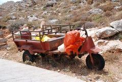 Véhicule à roues par trois de ferme, Halki Image libre de droits