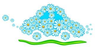 Véhicule écologique de marguerite Photo libre de droits