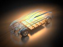 Véhicule électrique avec la carrosserie abstraite Photos stock