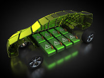 Véhicule électrique avec la carrosserie ouverte Photo libre de droits
