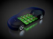 Véhicule électrique avec la carrosserie ouverte Images libres de droits