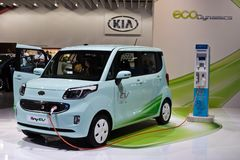 Véhicule électrique du rayon EV de Kia Photographie stock