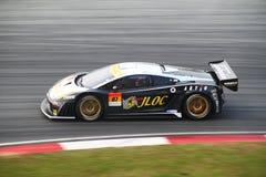 Véhicule 87, SuperGT 2010 de JLOC Lamborghini Photographie stock