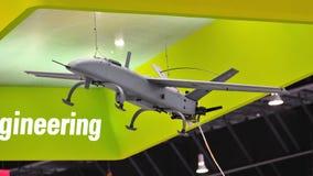 Véhicule aérien téléguidé (UAV) par espace de St sur l'affichage à Singapour Airshow Images libres de droits