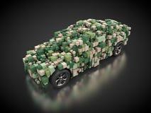 Véhicule avec la carrosserie abstraite en vert Images libres de droits