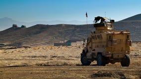 Véhicule blindé tchèque en Afghanistan Image libre de droits