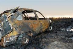 Véhicule brûlé Photo libre de droits