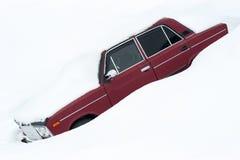 Véhicule couvert de neige Image stock