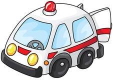 Véhicule d'ambulance avec des portes ouvertes Photographie stock libre de droits