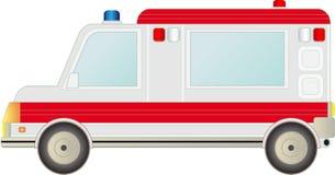 Véhicule d'ambulance d'isolement Photographie stock libre de droits