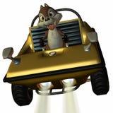 Véhicule d'amusement avec l'écureuil de Toon Photographie stock libre de droits