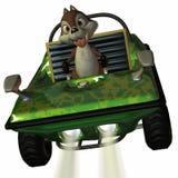 Véhicule d'amusement avec l'écureuil de Toon Images libres de droits