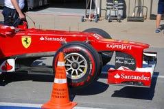 Véhicule d'emballage de Ferrari dans 2012 F1 Prix grand canadien Photographie stock