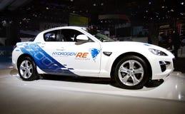 Véhicule d'essence d'hydrogène de Mazda Photographie stock libre de droits