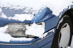 Véhicule dans la neige Photographie stock
