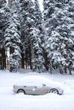 Véhicule dans la neige Images libres de droits