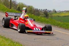 Véhicule de chemin de cru Ferrari 312T de 1975 Photo libre de droits