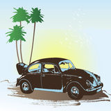 Véhicule de coléoptère de Volkswagen illustration libre de droits