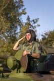 Véhicule de combat d'infanterie des forces armées serbes Images libres de droits