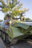 Véhicule de combat d'infanterie des forces armées serbes Photo libre de droits