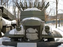 Véhicule de combat de ` réactif de Katyusha de ` de l'artillerie BM-13 photographie stock libre de droits