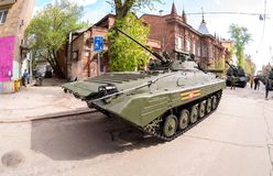 Véhicule de combat russe d'infanterie BMP-2 Image stock