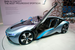 Véhicule de concept de BMW i8 sur IAA 2011 Photographie stock libre de droits
