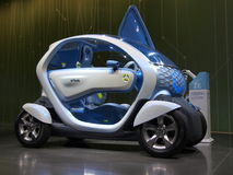 Véhicule de concept de Renault Twizy Photo libre de droits