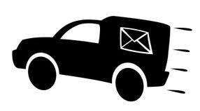 Véhicule de courrier illustration de vecteur