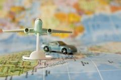 Véhicule de course et avion de ligne de luxe d'avion à réaction Photos stock