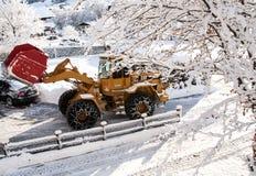 Véhicule de déblaiement de neige Photographie stock