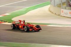 Véhicule de Ferrari de Felipe Massa dans 2008 F1 Image libre de droits