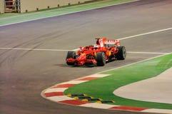 Véhicule de Ferrari de Kimi Räikkönen dans 2008 F1 Photos libres de droits