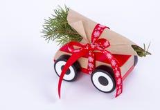 Véhicule de fond de Noël Photos stock