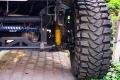 Véhicule de grande roue, commande de 4 roues Photographie stock