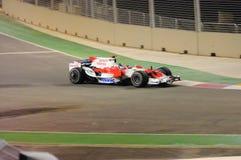 Véhicule de Jarno Trulli Toyota dans F1 2008 Photo stock