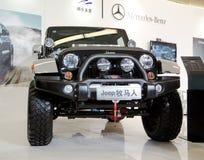 Véhicule de jeep sur l'affichage Images libres de droits