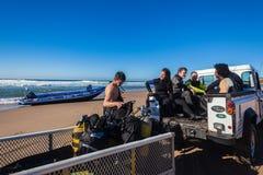 Véhicule de l'équipement 4x4 de plongeurs autonomes Photographie stock libre de droits