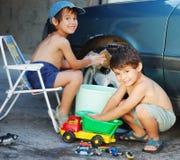 Véhicule de lavage d'enfant Images stock